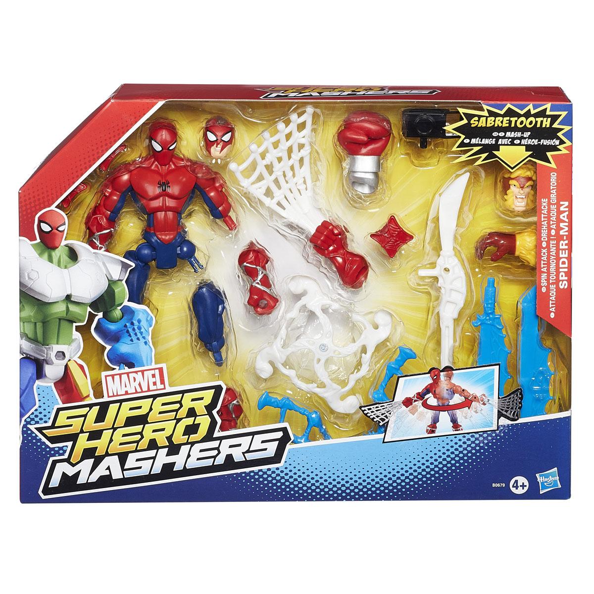 "Разборная фигурка Super Hero Mashers ""Spider-Man"", с аксессуарами"