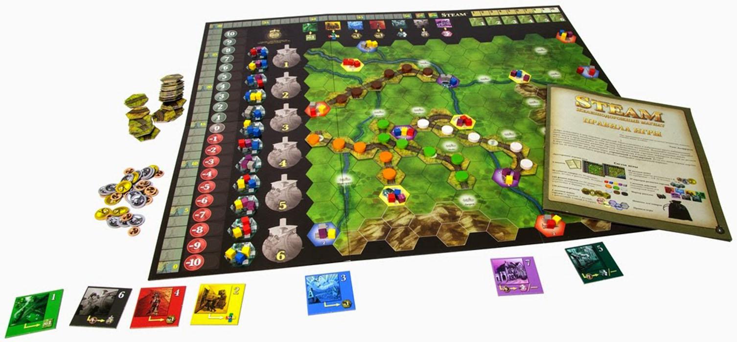 Hobby World Настольная игра Steam Железнодорожный магнат ( 1305 )
