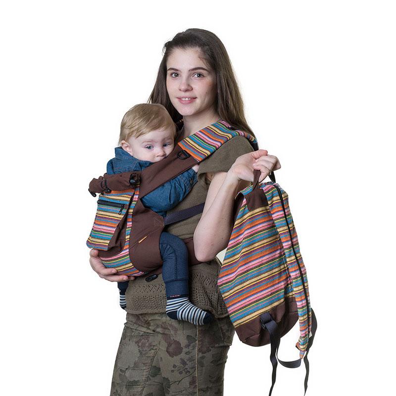"""Слинг-рюкзак Чудо-Чадо """"Уичоли"""", цвет: шоколадный"""