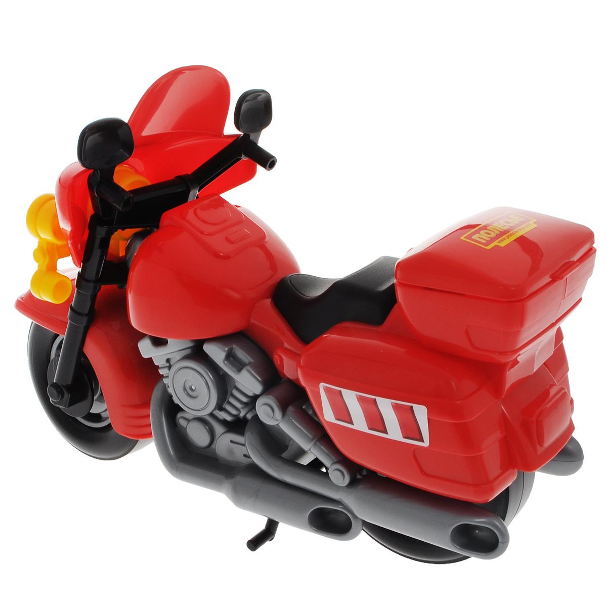 Полесье Полицейский мотоцикл Харлей цвет красный серый
