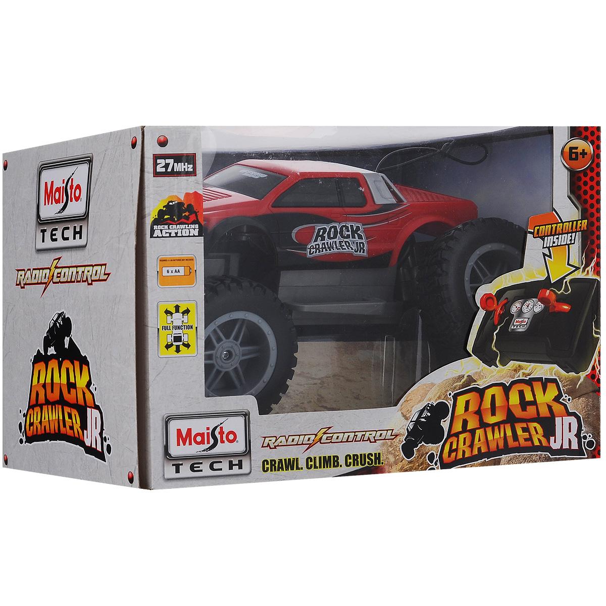 Радиоуправляемая модель Maisto `Вездеход Rock Crawler 4х4`, цвет: красный