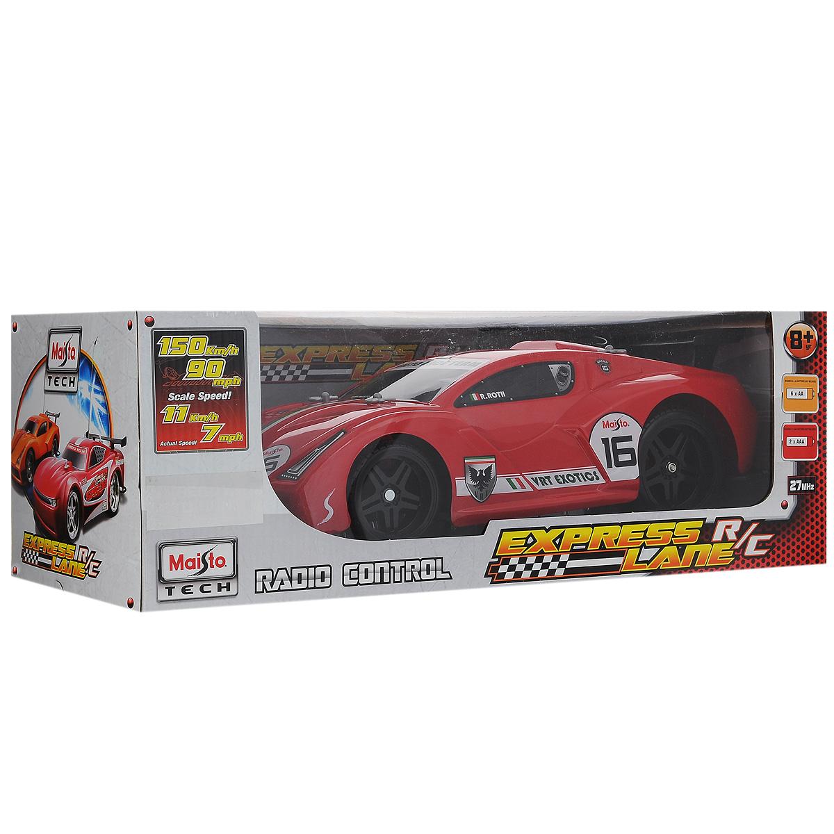 Радиоуправляемая модель Maisto `Express Lane VRT-16`, цвет: красный. Масштаб 1/14