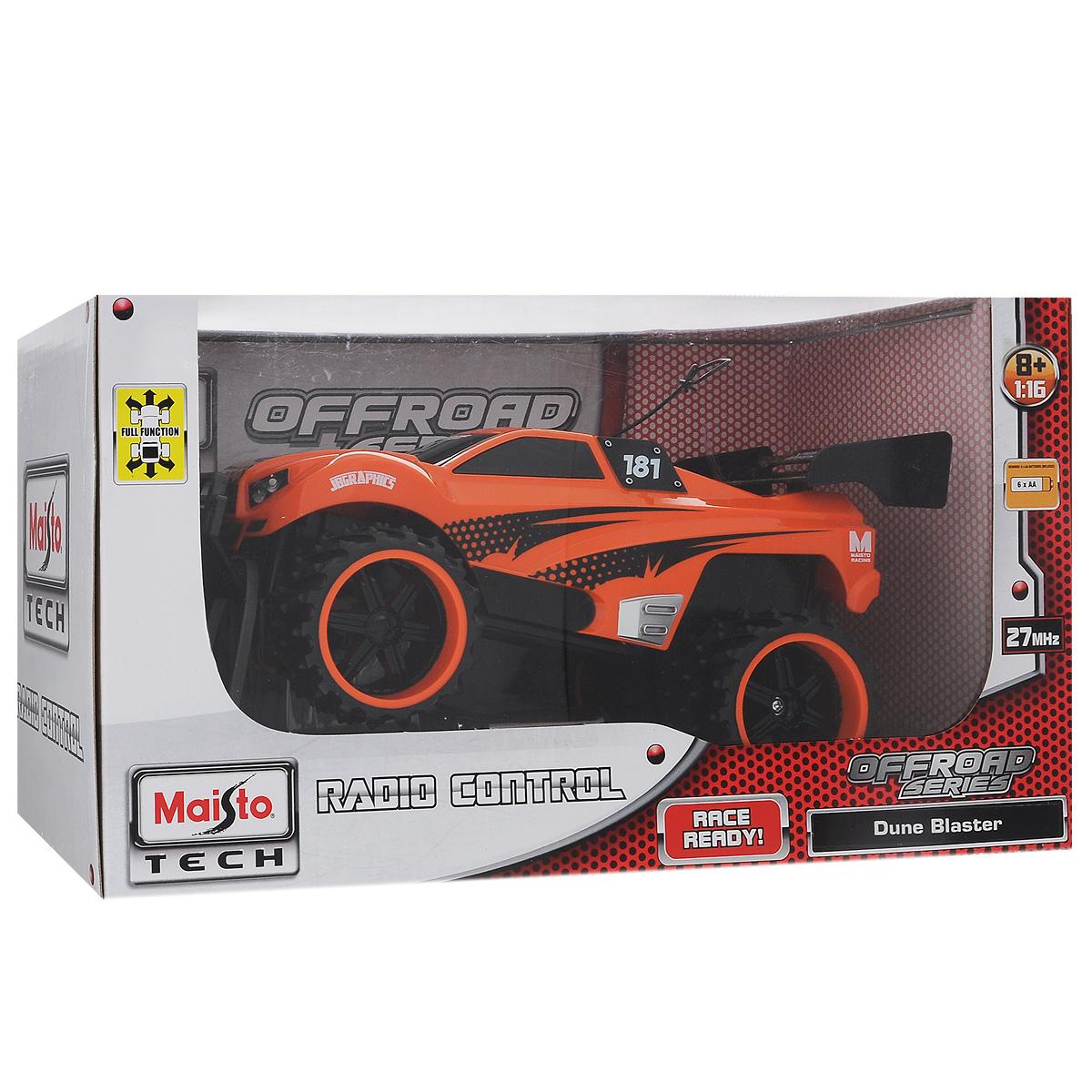 Радиоуправляемая модель Maisto `Внедорожник Dune Blaster`, цвет: оранжевый. Масштаб 1/16