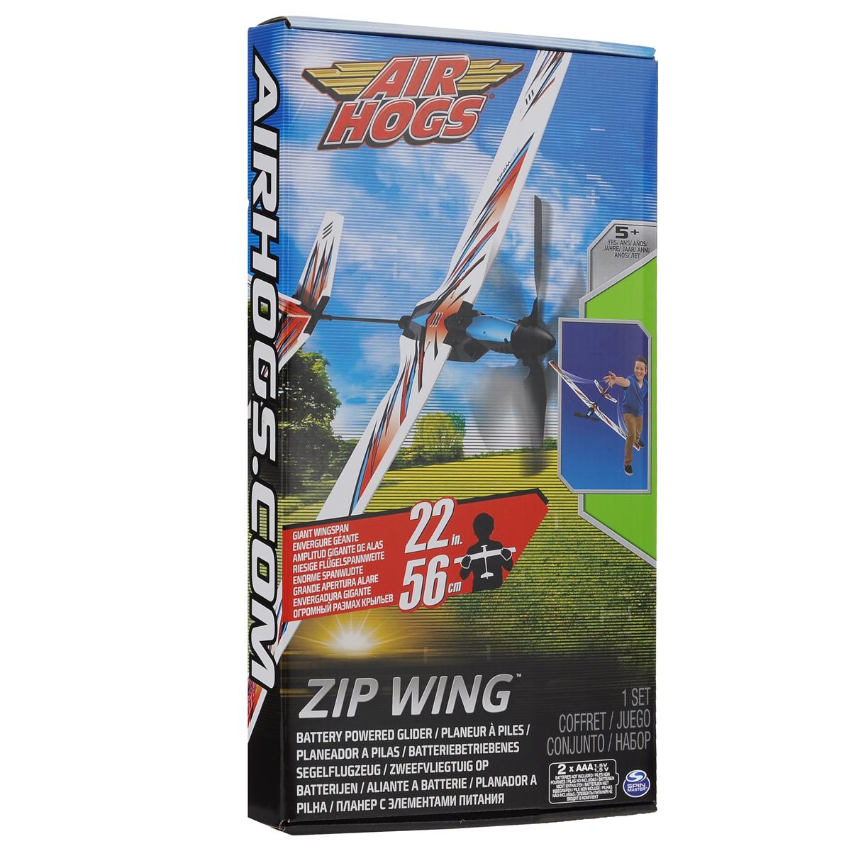 Игрушка Air Hogs `Планер с моторчиком Zip Wing`, цвет: синий, красный