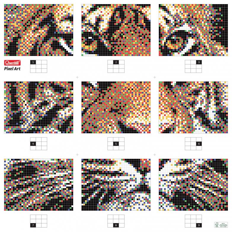 Пиксельная мозаика серии Арт