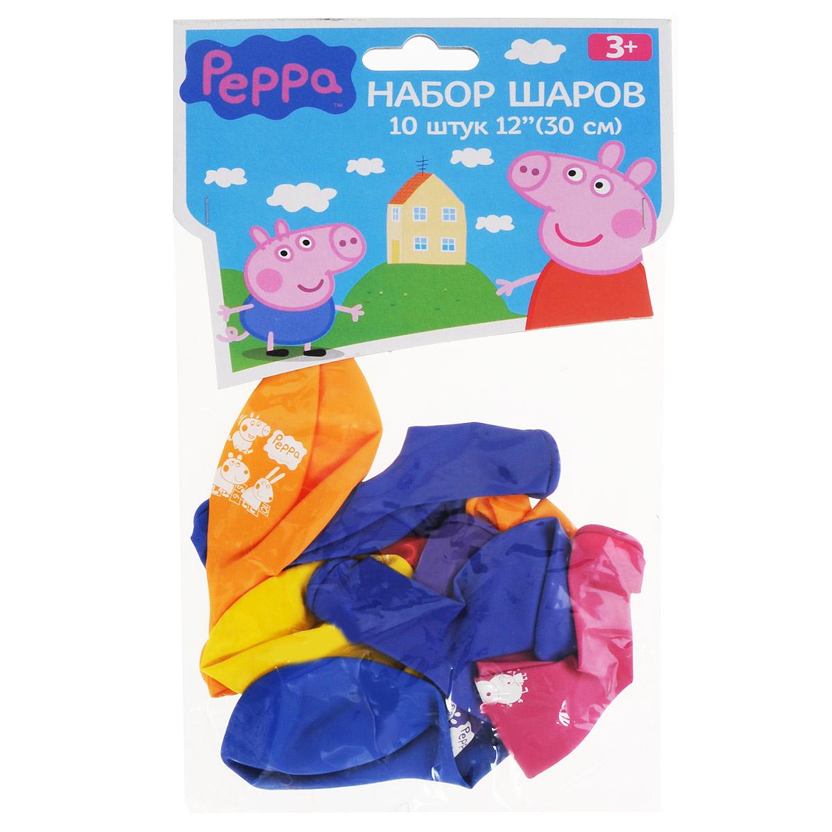 """Набор воздушных шаров """"Peppa Pig"""", с рисунком, 10 шт - 2"""