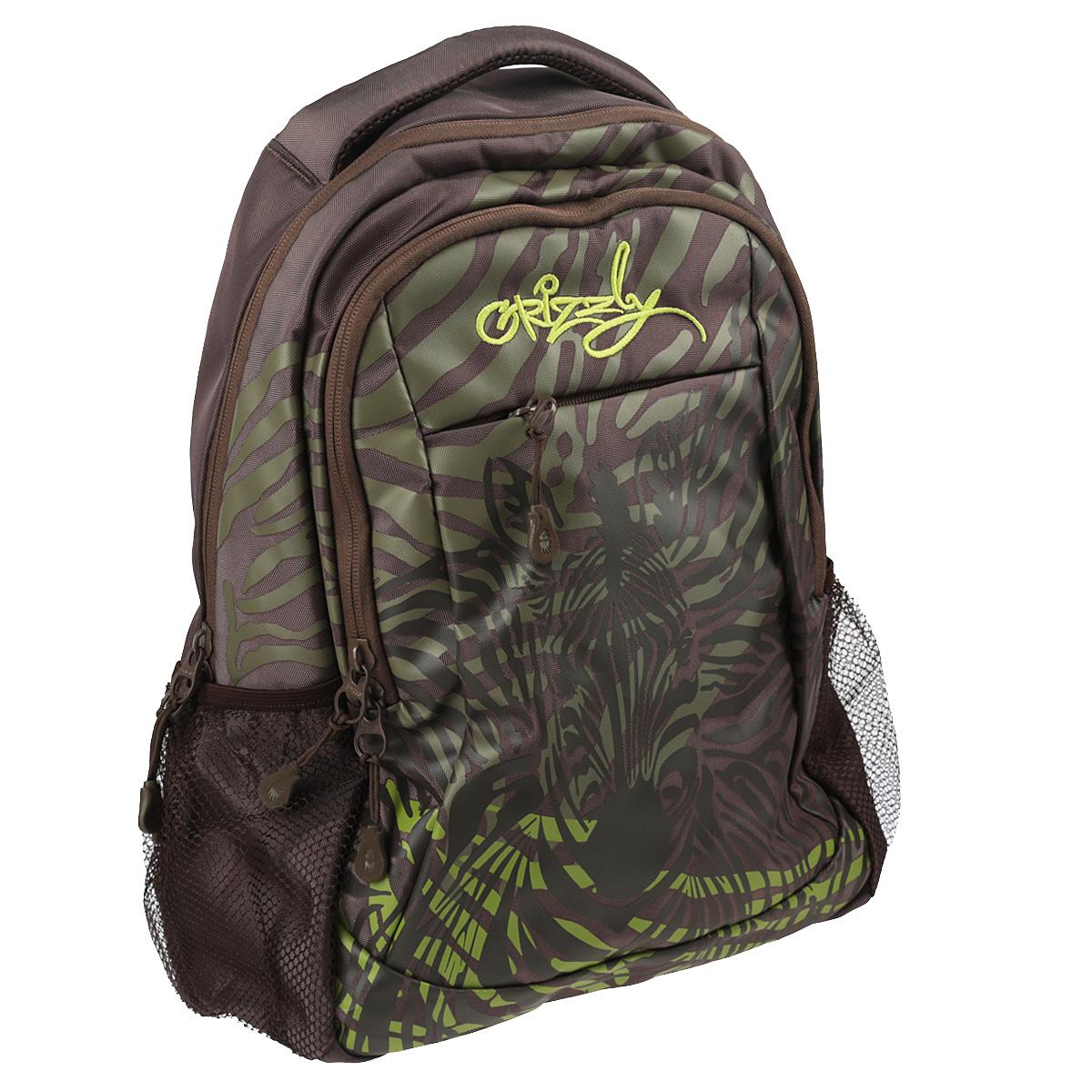Рюкзак городской Grizzly, цвет: хаки, 24 л. RD-534-2/3