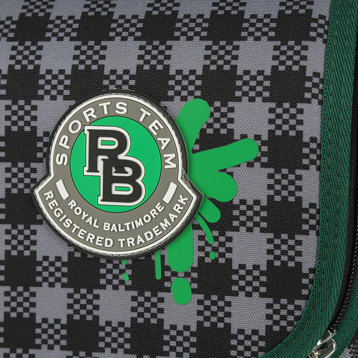 "Ранец Erich Krause ""Sport Baltimore"", цвет: зеленый, серый, модель Light"
