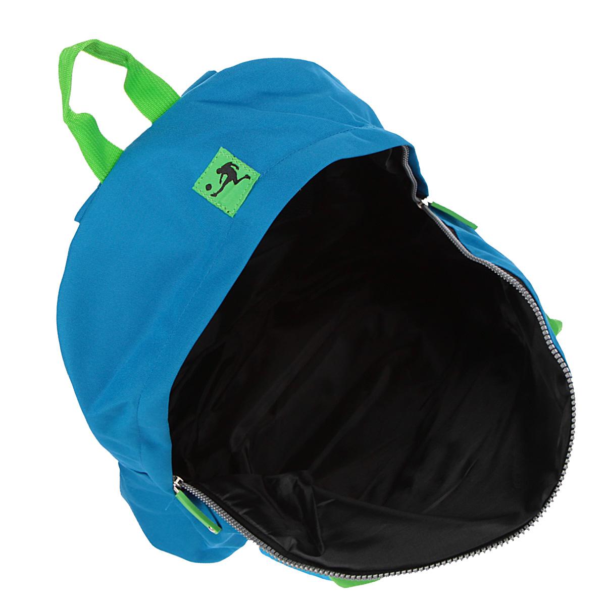 "Рюкзак Erich Krause ""Soccer"", цвет: синий, зеленый"