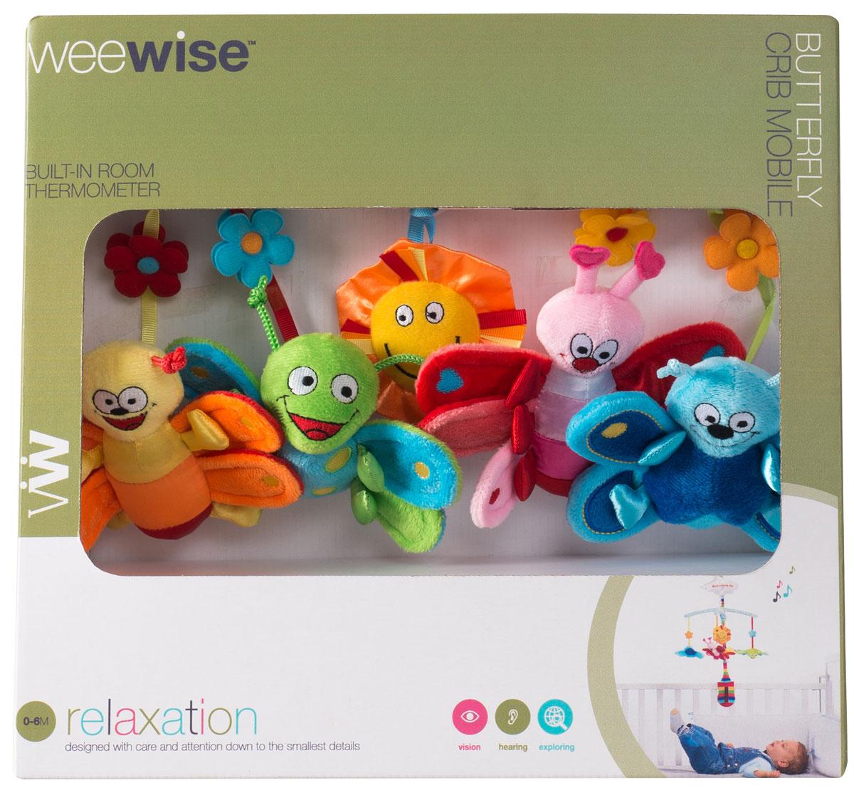 WeeWise Мобиль для детской кроватки `Бабочки`