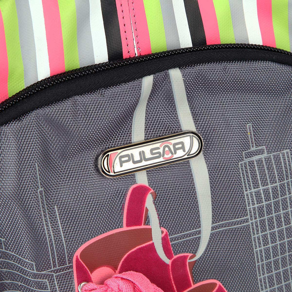 """Рюкзак Pulsar """"Roller"""", цвет: черный, розовый, серый, салатовый. V8049-152"""