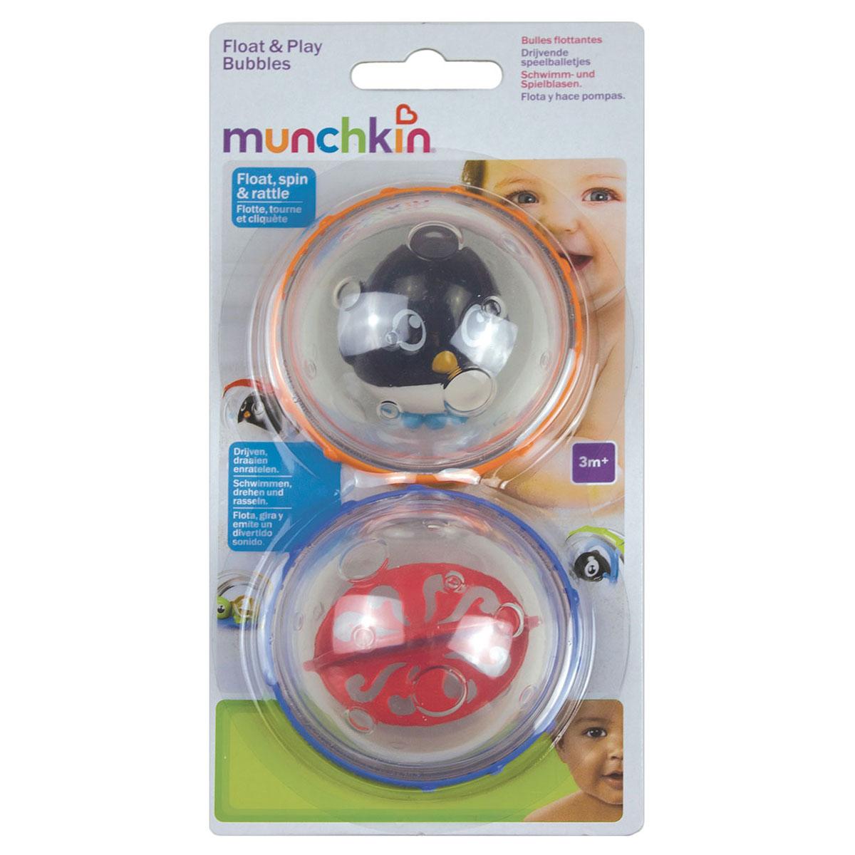 Игровой набор для ванны Munchkin `Пузыри-поплавки`, цвет: оранжевый, синий
