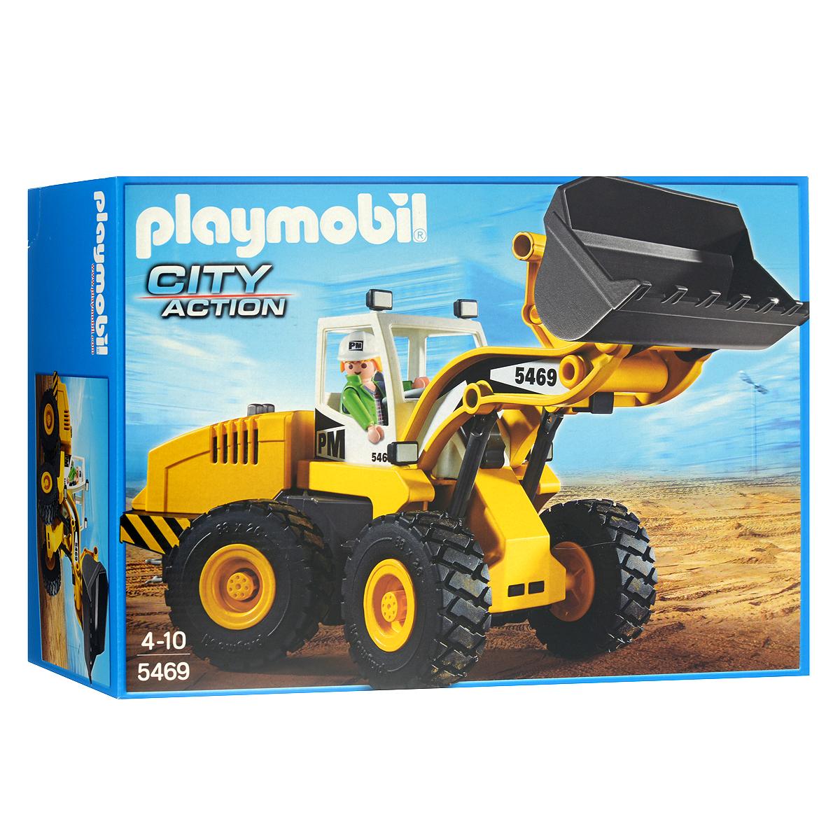 """Playmobil Игровой набор """"Большой фронтальный погрузчик"""""""
