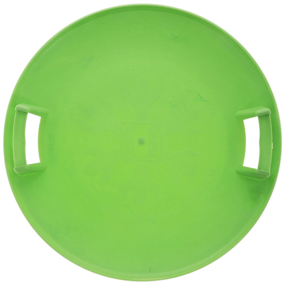 "Престиж Санки-ледянки ""Экстрим"", с ручками, цвет: зеленый, диаметр 580 мм"