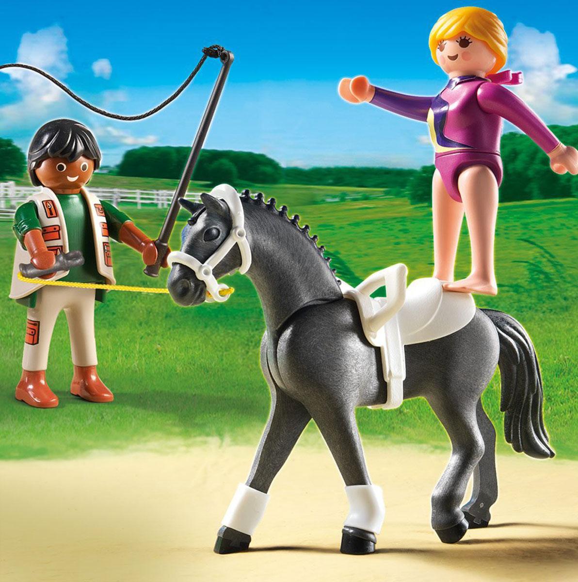 Playmobil Игровой набор Лошади Наездница эквилибристка на лошади