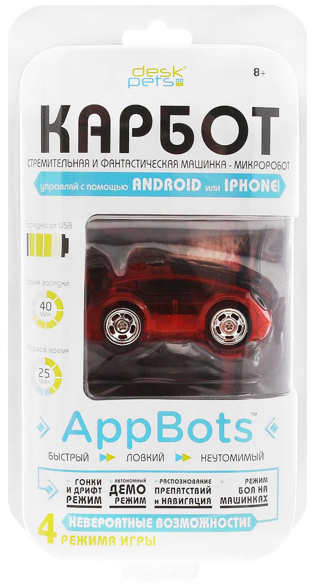 DeskPets Машина-микроробот на радиоуправлении Карбот красный