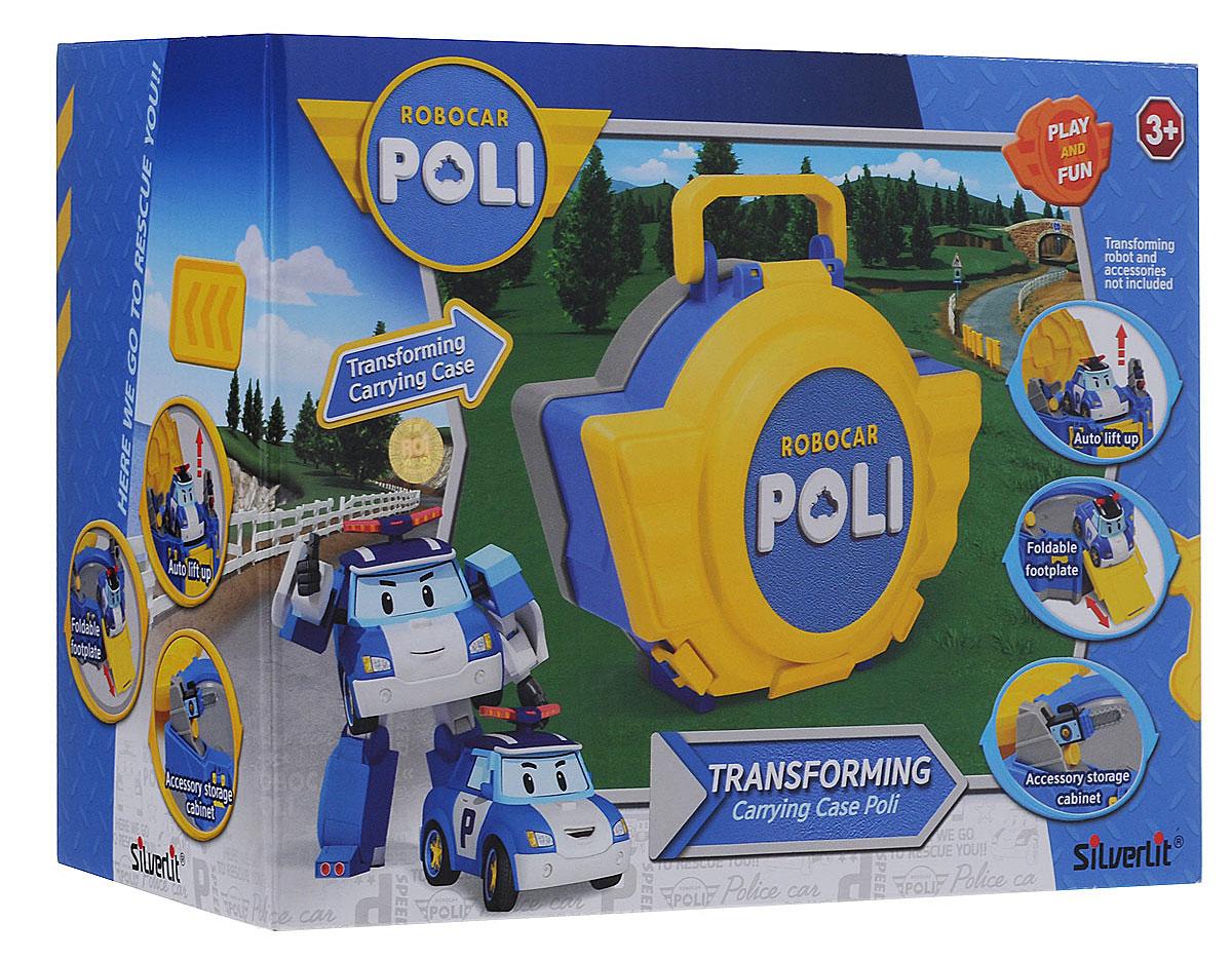 Robocar Poli Игрушка-кейс для трансформера Поли цвет желтый синий
