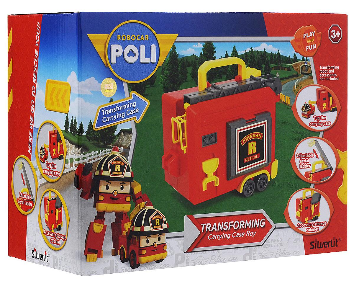 Robocar Poli Игрушка-кейс для трансформера Роя цвет красный желтый