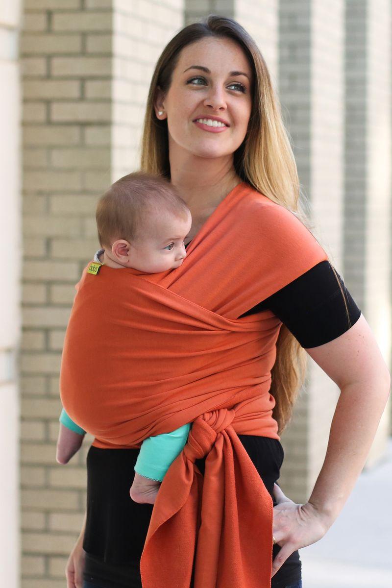 Трикотажный слинг-шарф Wrap Orange - 3