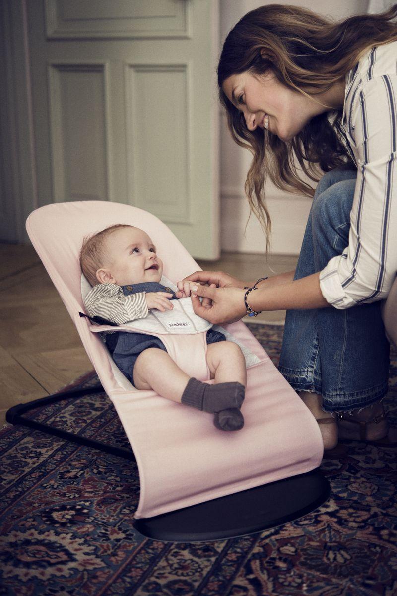 BabyBjorn Кресло-шезлонг BALANCE JERSEY, цвет: розовый, серый