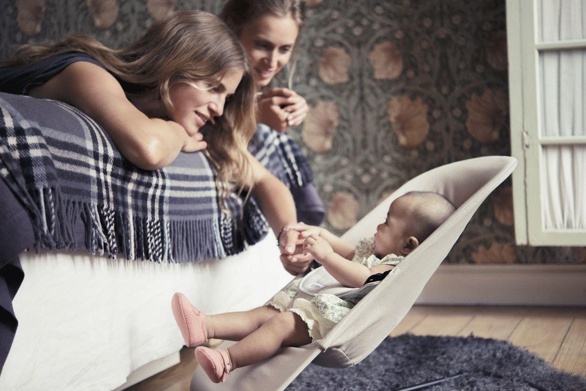 BabyBjorn Кресло-шезлонг BALANCE JERSEY, цвет: бежевый, серый