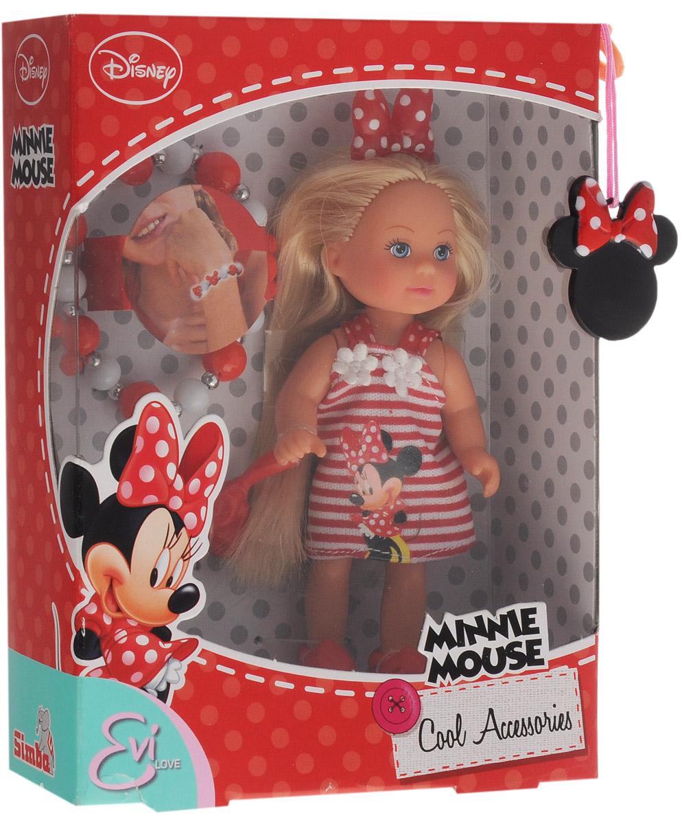 Simba Мини-кукла Еви Minnie Mouse блондинка цвет платья красный белый