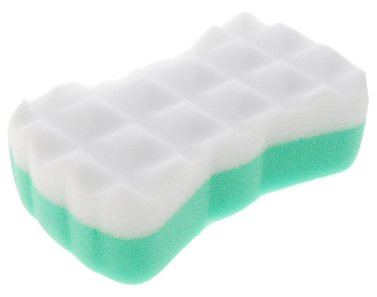 Курносики Мочалка с массажным слоем цвет зеленый белый
