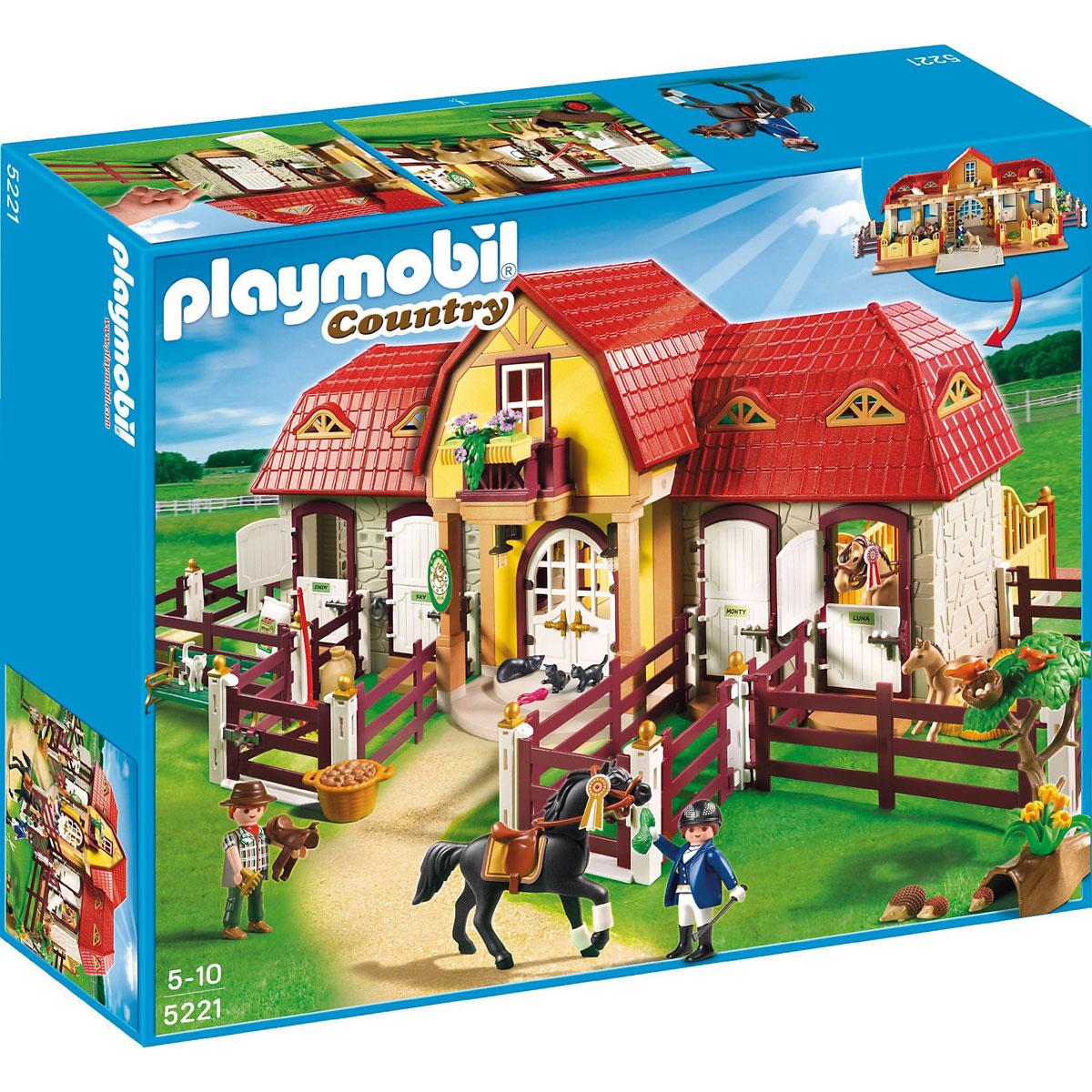 Playmobil Игровой набор Лошади Большая конюшня
