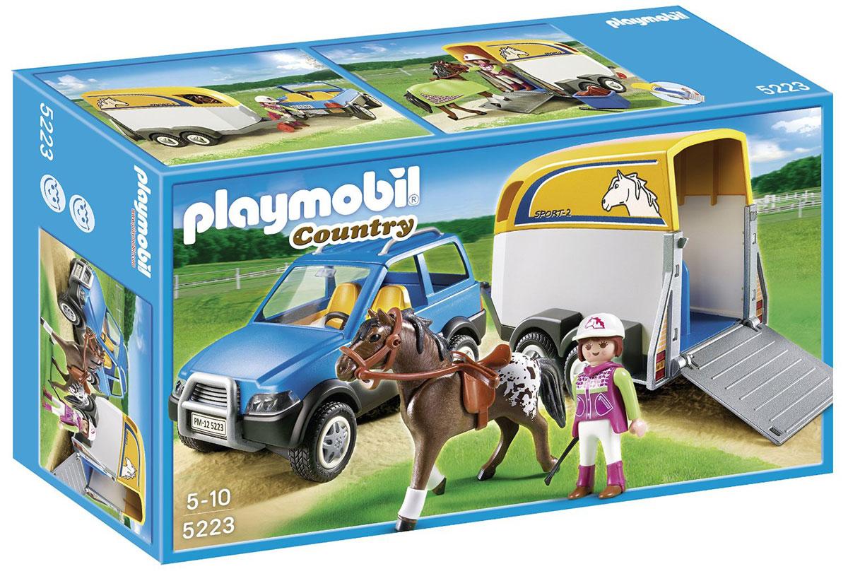 Playmobil Игровой набор Лошади Джип с трейлером для перевозки лошадей