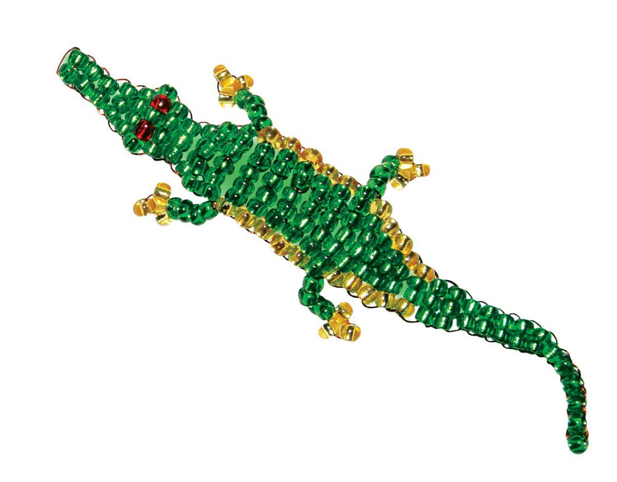 Как плести крокодила из бисера на проволоке