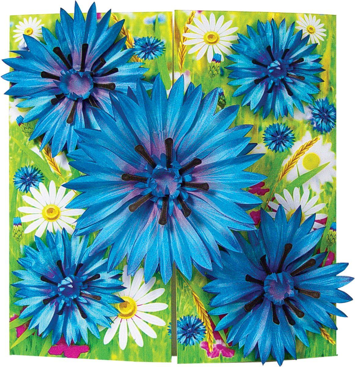 Как сделать цветок василёк 384