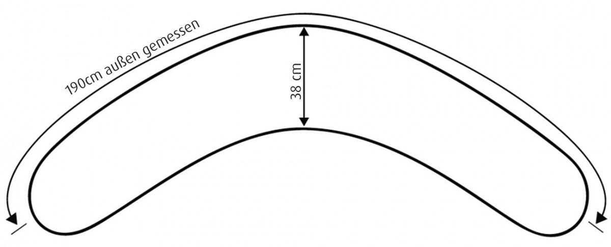 """Подушка Theraline """"Jersey"""" для беременных и кормящих мам, цвет: каппучино, 190 см"""