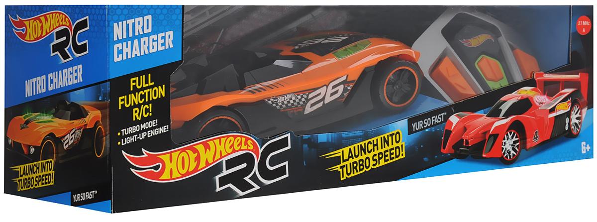 Hot Wheels Машина на радиоуправлении Nitro Charger цвет оранжевый