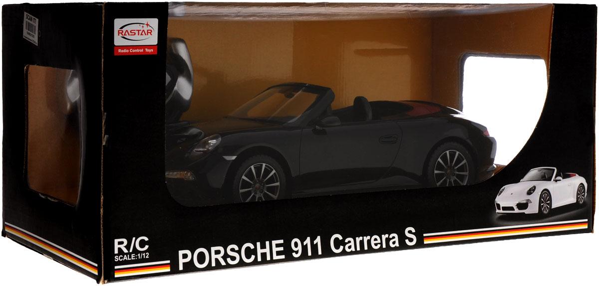 Rastar Радиоуправляемая модель Porsche 911 Carrera S цвет черный красный