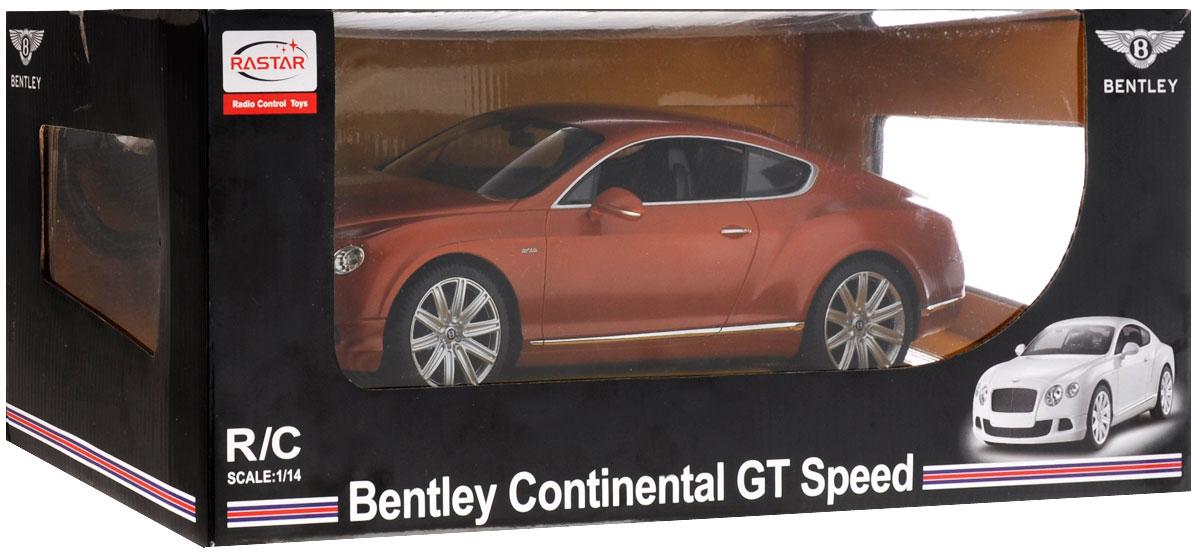 Rastar Радиоуправляемая модель Bentley Continental GT Speed цвет коричневый