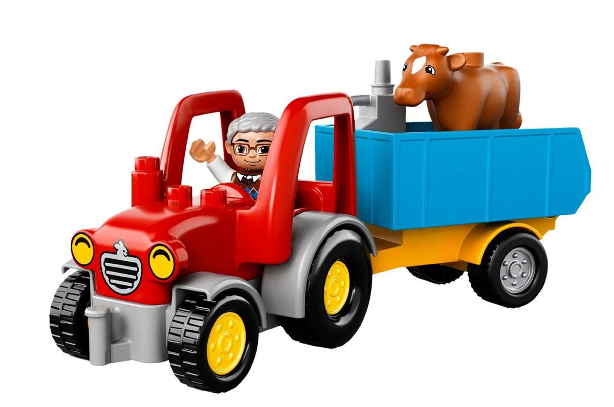 LEGO DUPLO Конструктор Сельскохозяйственный трактор 10524 ( 10524 )