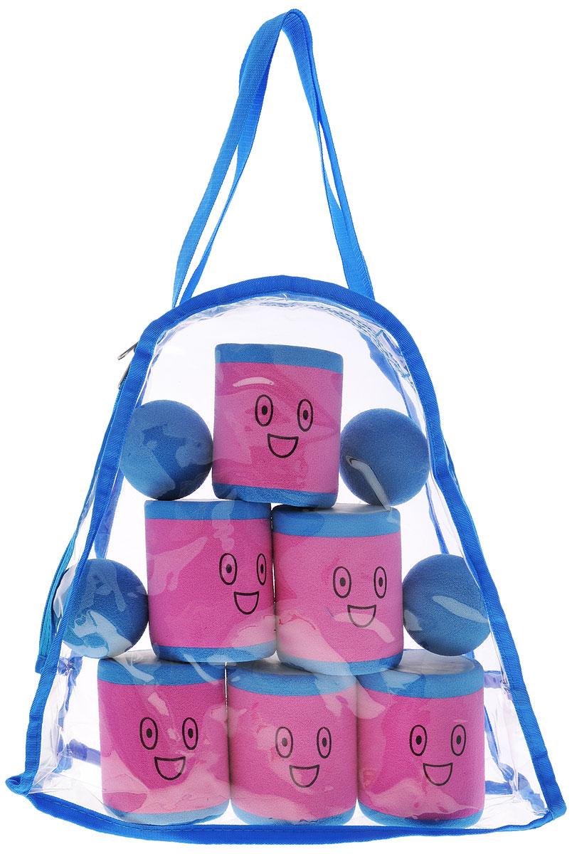 Safsof Игровой набор Городки цвет розовый голубой
