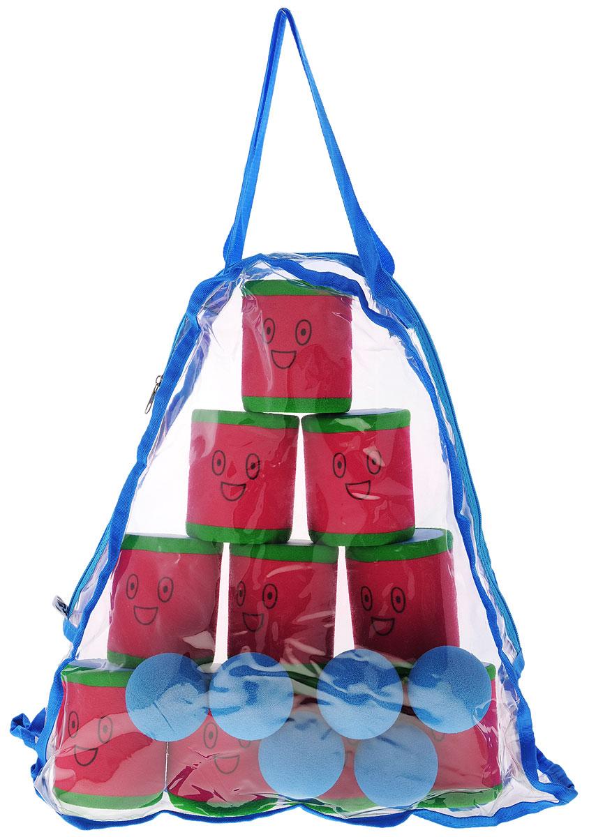 Safsof Игровой набор Городки цвет красный зеленый голубой