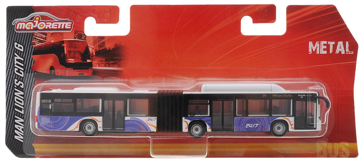 Majorette Городской автобус цвет белый сиреневый