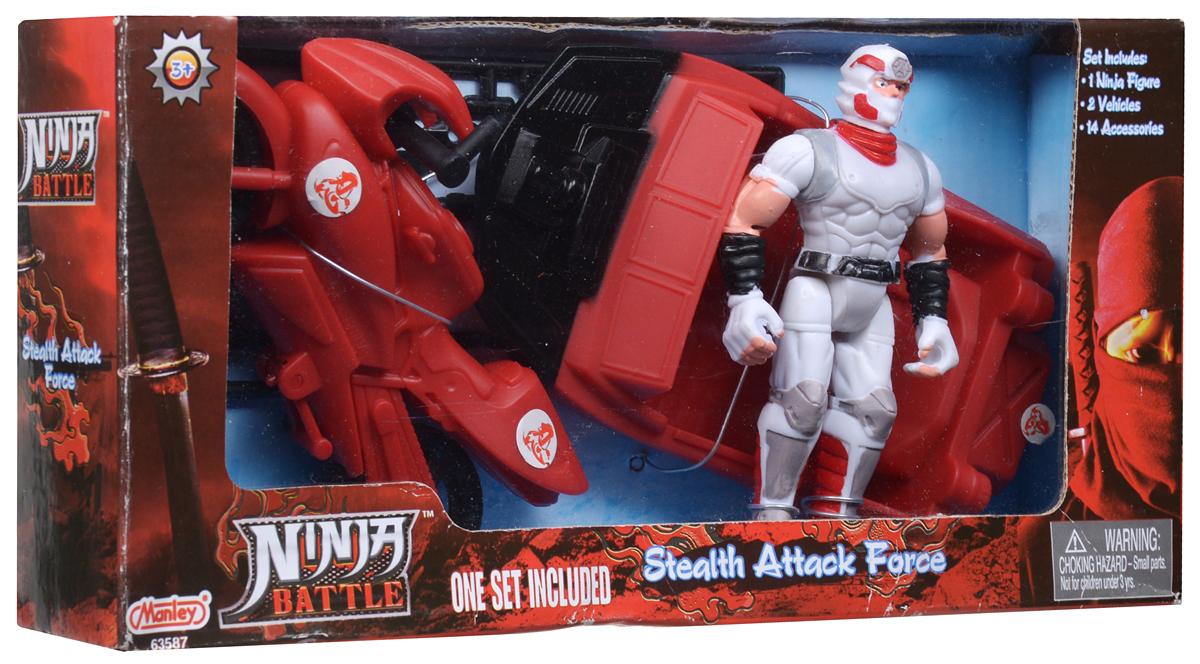 Manley Игровой набор Ninja Battle цвет красный белый