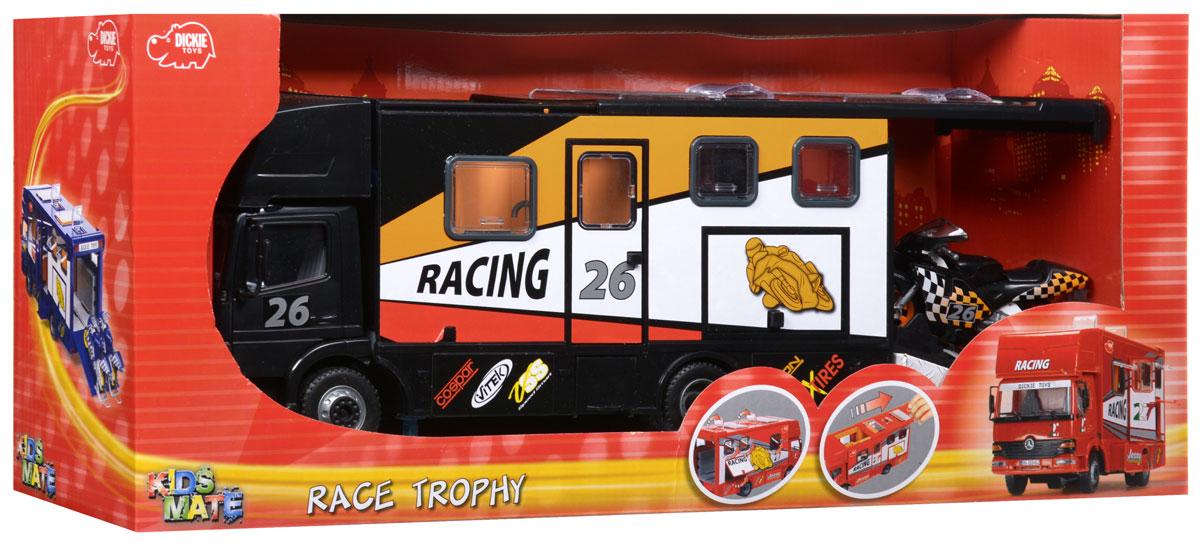 Dickie Toys Трейлер для мотогонок c 2 мотоциклами цвет черный