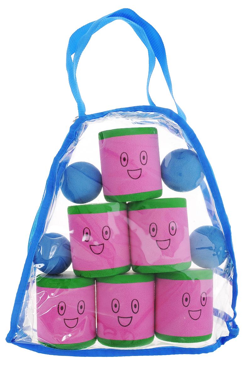Safsof Игровой набор Городки розовый зеленый голубой