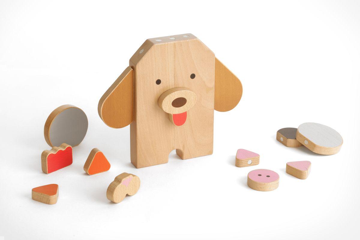 Шуша Обучающая игра Конструктор деревянный Зоопарк