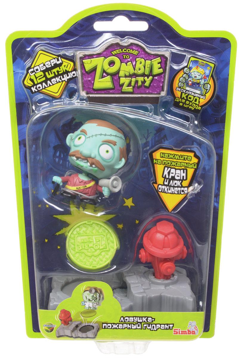 Zombie Zity Игровой набор Ловушка для зомби Майор и Пожарный гигант