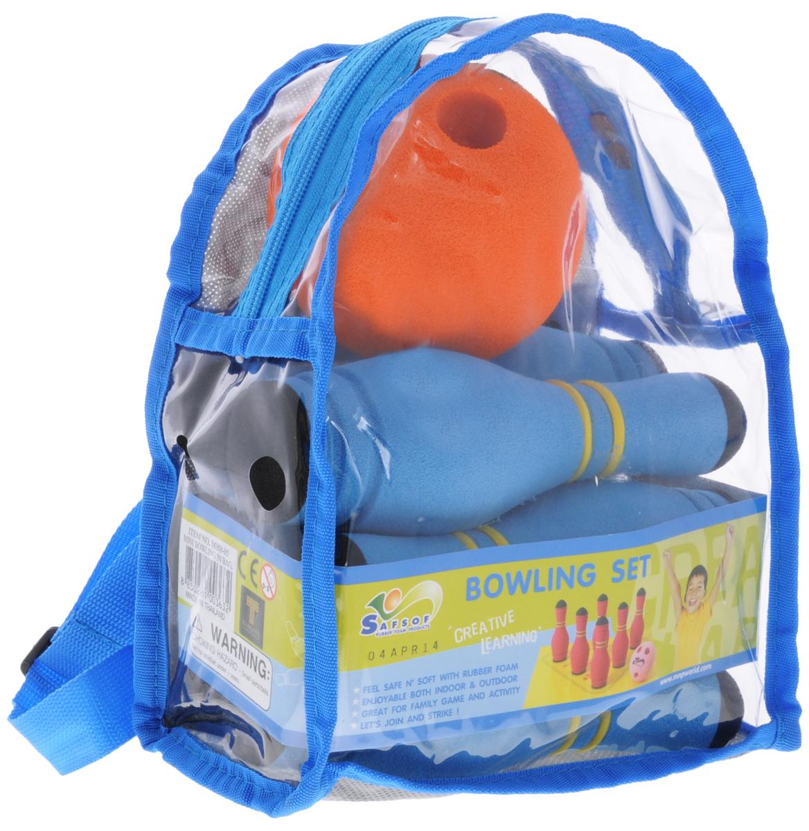 Safsof Игровой набор Мини-боулинг цвет голубой оранжевый