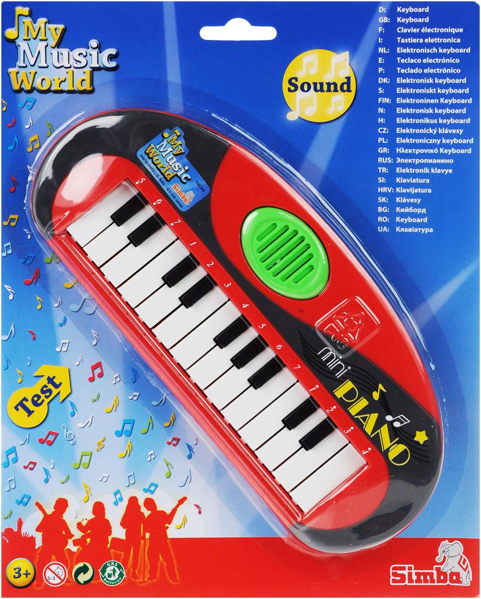 Simba Музыкальная игрушка Мини-пианино цвет красный