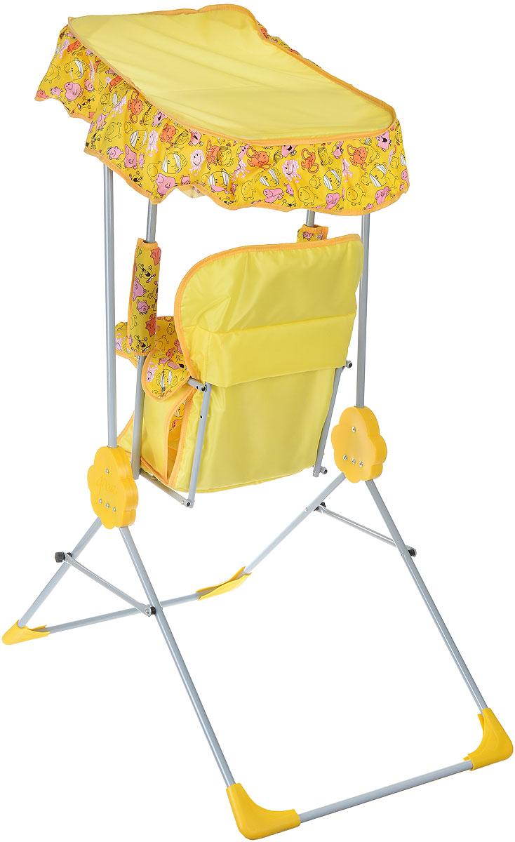Фея Качели детские Малыш с тентом цвет желтый