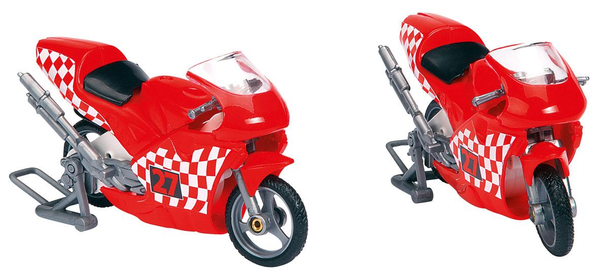Dickie Toys Трейлер для мотогонок c 2 мотоциклами цвет красный