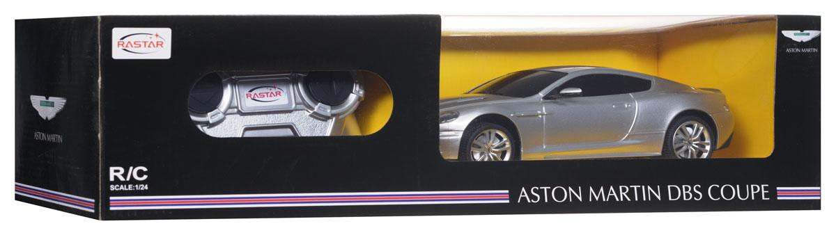 Rastar Радиоуправляемая модель Aston Martin DBS Coupe цвет серебристый масштаб 1:24