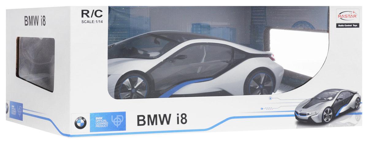 Rastar Радиоуправляемая модель BMW i8 цвет белый серый масштаб 1:14